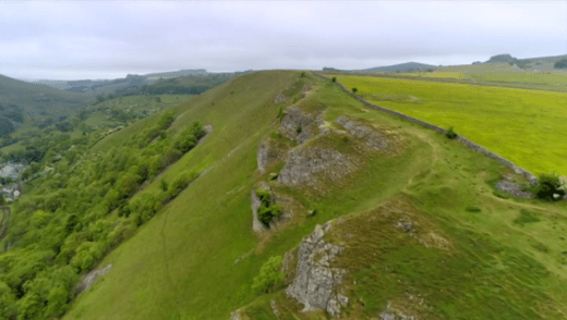 Britain by bike with Larry and George Lamb - Monsal Dale - the rocky outcrop