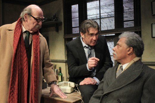 The characters of Moe, Galvin and Dr Thompson (Denis Lill, Ian Kelsey and Okon Jones) in The Verdict