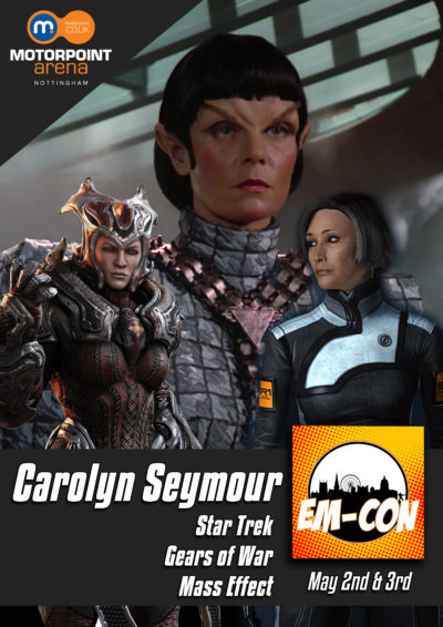 Carolyn Seymour, from Survivors, who's appearing at Nottingham's EM-Con, in May 2020