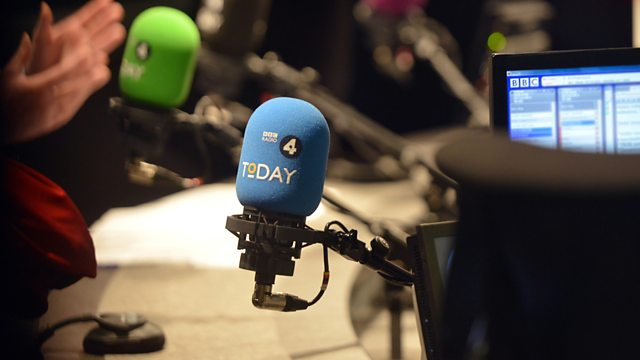 An behind-the-scenes in-studio image from the Today programme on BBC Radio 4