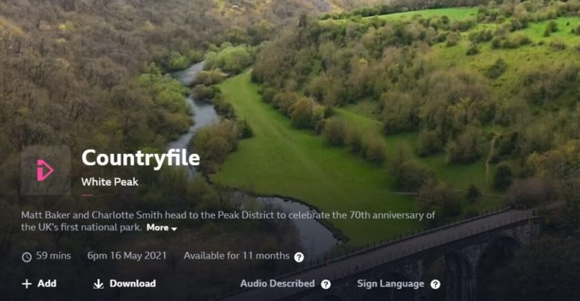 BBC1 Countryfile - 16 May 2021 - iPlayer title screen