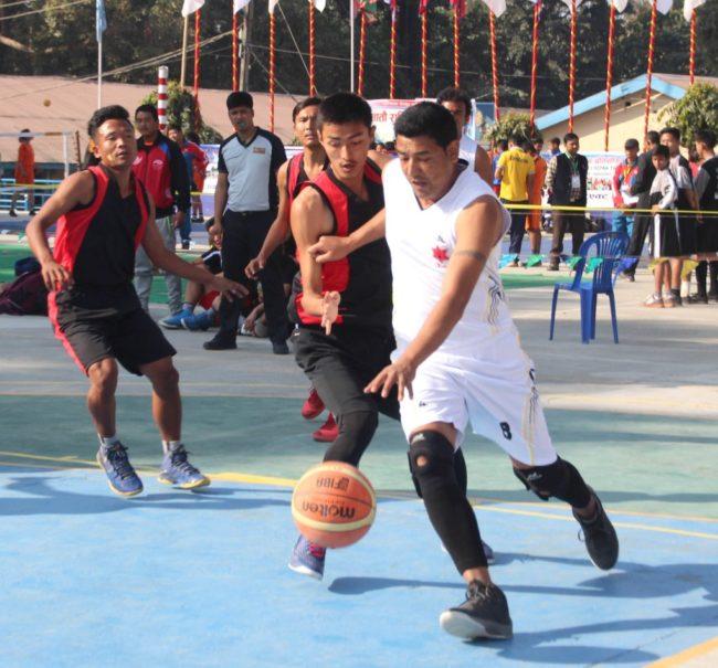 सातौ राष्ट्रिय खेलकुदमा बास्केटबल प्रतियोगिता सुरु