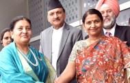 राष्ट्रपति भण्डारी दिल्लीमा, भोलीबाट प्रणव मुखर्जी लगायत उच्च अधिकारीसंग भेटवार्तामा ब्यस्त हुने