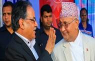 अध्यक्ष केपी शर्मा ओली र प्रचण्डद्धारा वाम गठबन्धनको घोषणापत्र सार्वजनिक