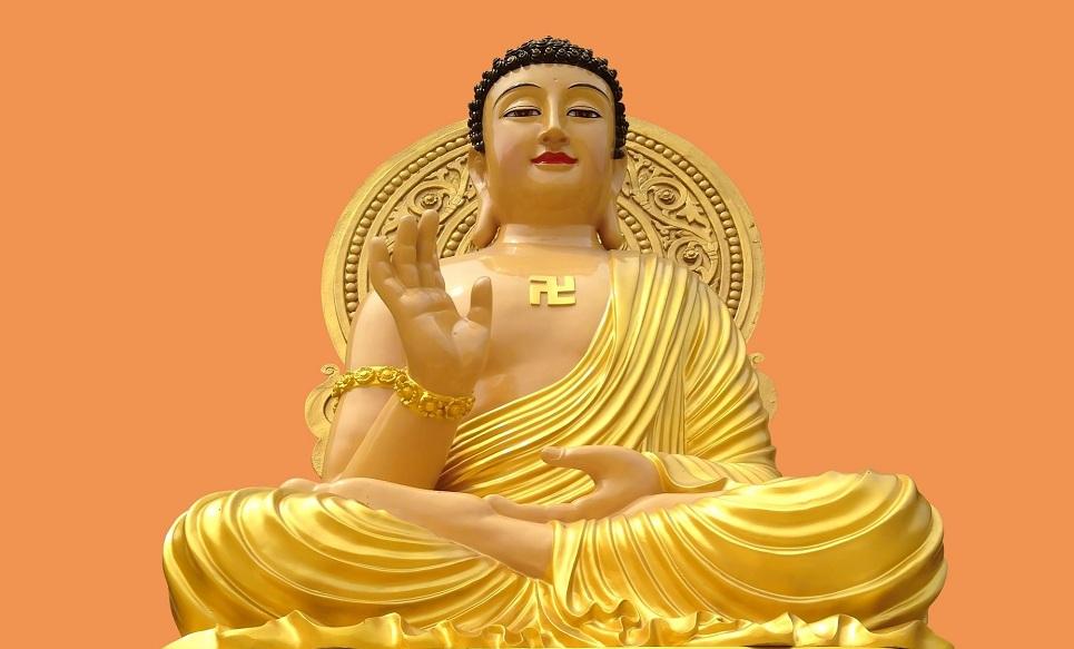 Dharmakaya Buddha Mandala being constructed at Kanhudanda