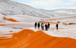 सहारा मरुभूमिमा हिमपात भएपछि जे–देखियो (फोटोफिचर)