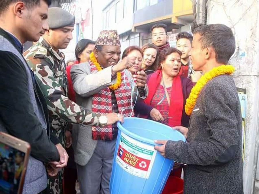 काठमाण्डौको आलोकनगर अब फोहरमुक्त
