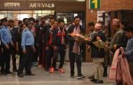 क्रिकेट टोली स्वदेश फिर्ता, टोलीलाई विमानस्थलमा भव्य स्वागत
