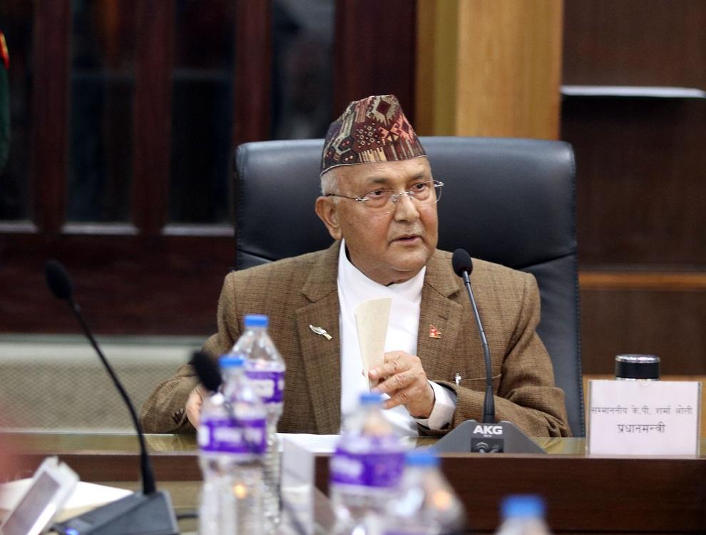 हतियार उठाउने पार्टी माओवादी मात्रै होईन नेपाली कांग्रेस पनि होः प्रधानमन्त्री ओली