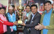 नेपाली टोलीको सम्मानमा ह्यान्डबल टोली स्वागत र बधाई
