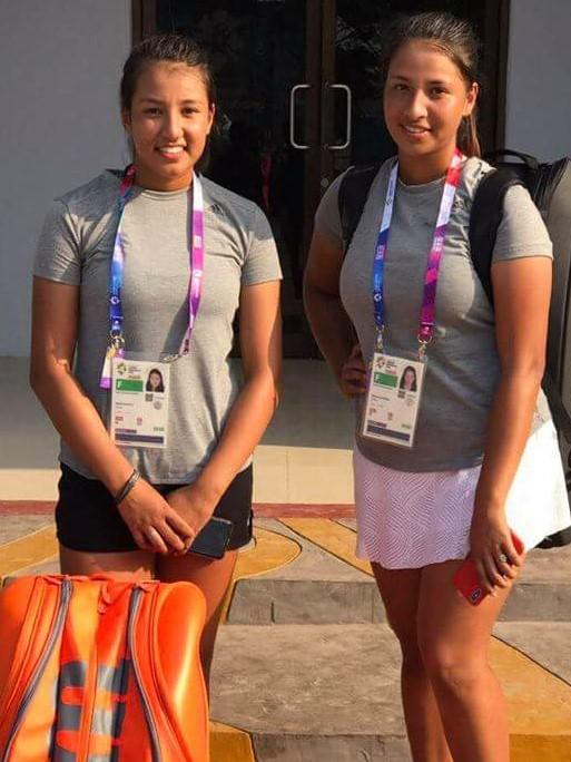 लनटेनिसको महिला डबल्समा नेपालका मायांका र माहिका प्रिक्वाटरफाइनलमा