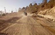 हुलाकी राजमार्ग सडकको कालोपत्र गर्न शुरु