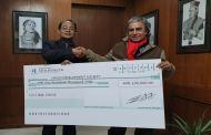सिभिल बैंकद्वारा बाल विकास समाजलाई एक लाख प्रदान