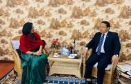 मन्त्री पुन र बङ्गलादेशी राजदूतबीच भेटवार्ता