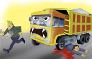 टिपर दुर्घटनाको त्रास, आँखा अगाडि नै छोरीको मृत्यु देखेका बाबु...