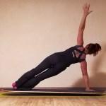 Bild Yoga auf dem Yogaboard