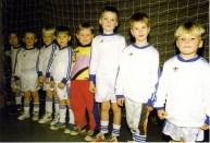 Mini-Kicker 1996 V.l. Marco Hartwig, Julian Slawinski, Michel Berz, Fabian Meyer, Christian Wiese, Erik Vickermann, Sandra Krummel, Nikolai Berz