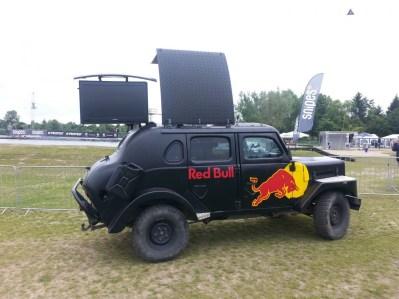 Nettes Fahrzeug vom Sponsor
