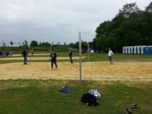 Die Alten beim Volleyball