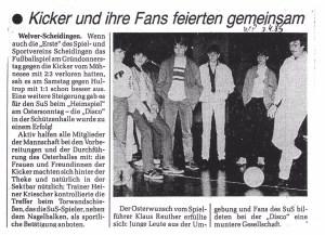 Osterdisco der 1. Mannschaft 07.04.1985