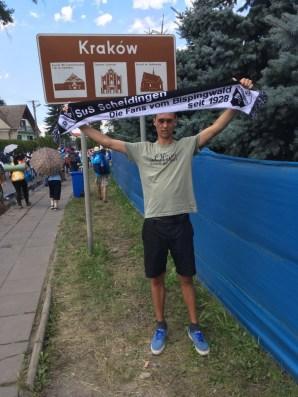 Florian Volmer in Krakau Polen am 31.07.2016
