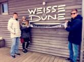 v.l. Thomas Kree, Anna-Maria Kree und Steffen Kree an der Weissen Düne auf Norderney