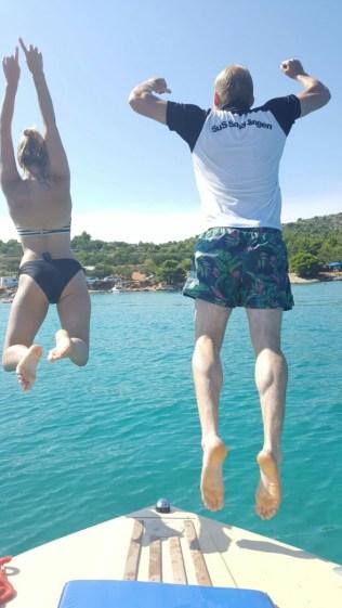 Lennart Wilms und Caro Schmidt in Kroatien auf der Halbinsel Murter 12.08.2016