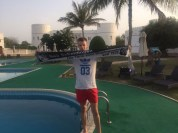 Nikolai Berz in Sohar im Oman im Sohar Beach Hotel