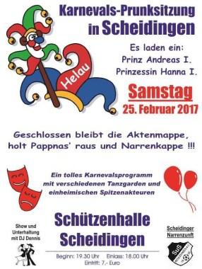 Plakatentwurf SuS-Karneval 2017