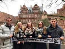 v.l.n.r.: Thomas Kree, Lea Schröder, Leonie Kröner, Anna-Maria Kree, Steffen Kree in Heidelberg
