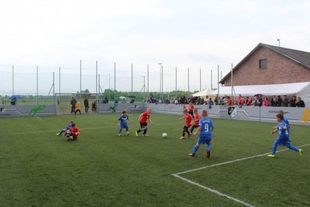 Die Jüngsten haben immer ihre helle Freude am Turnier auf dem Soccerplatz