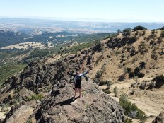 Anja Britten auf dem Mount Diablo in Kalifornien am 01.07.2018