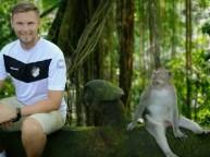 Peter Pyka auf Bali am 09.08.2018 im Scared Monkey Forest in Ubud