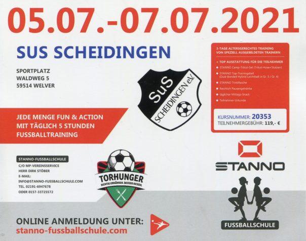 Stanno Fussballschule 05.07.-07.07.2021