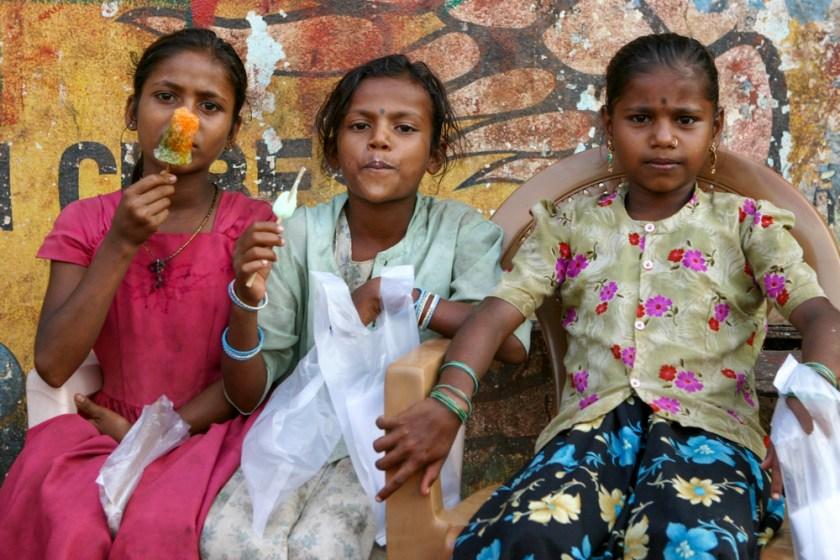 Kinder eis goa eisessen indien Fotografie