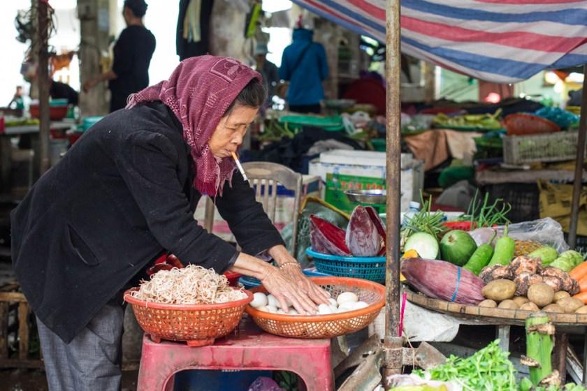 Hoi An Vietnam Marktfrau Zentralvietnam