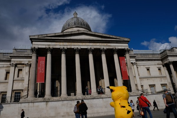 Pikachu on Trafalgar Square