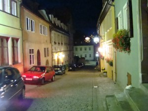 night street scene in Rothemburg