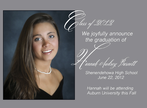 Sample Graduation Announcements High School