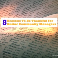 8 Reasons To Be Thankful for Online Community Managers