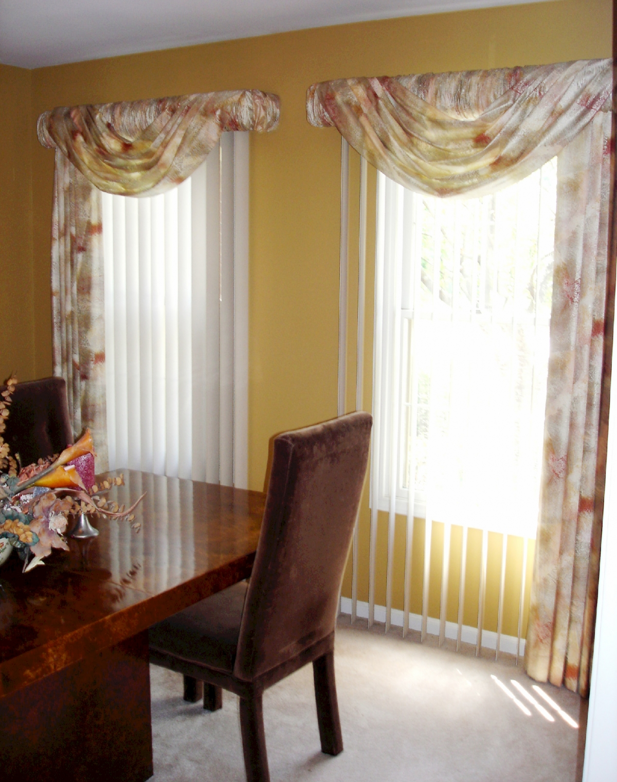 Soften up those vertical blinds  Susan's Designs