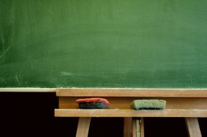blackboard on Learning Confidence in the Classroom of Mistakes post at Holy in the Daily