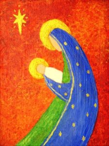nativity art painting for Susan Gaddis blog
