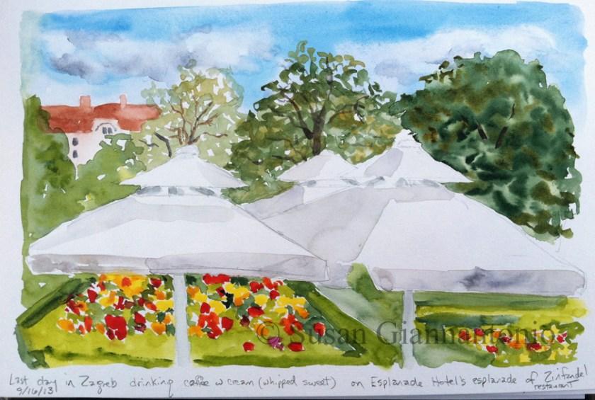 Zagreb Esplanade Patio Sketch