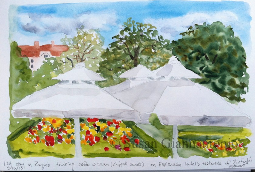 Zagreb Esplanade Patio Sketch