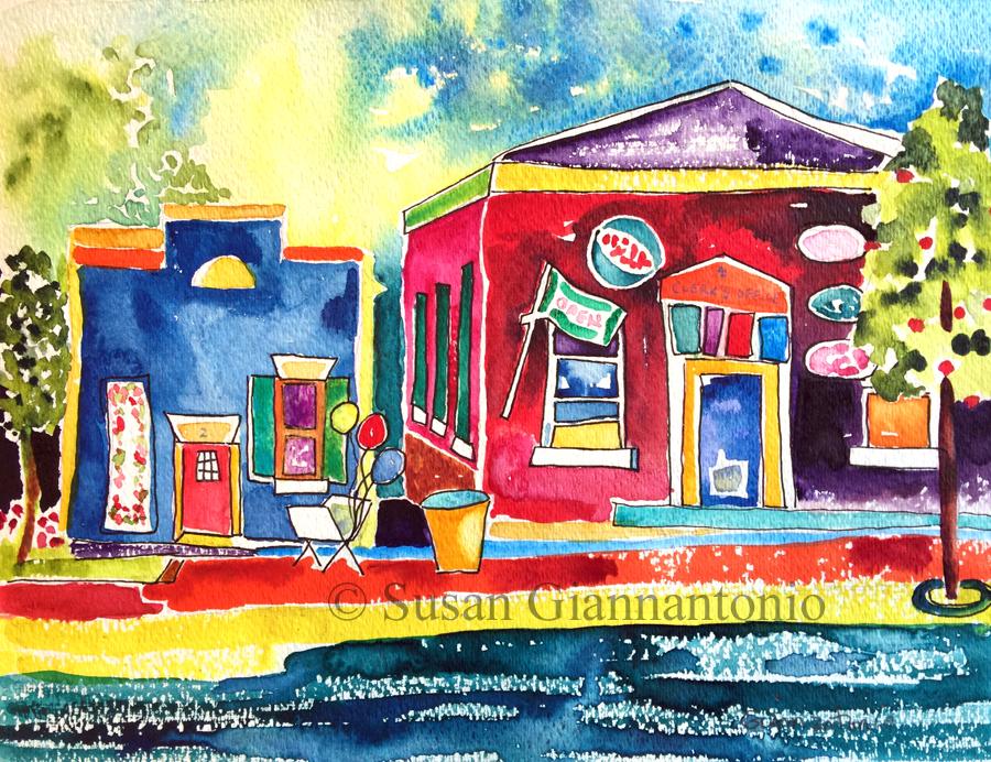 "Sweet Spot Summer, 12 x 16"" transparent watercolor on D'Arches rough paper"