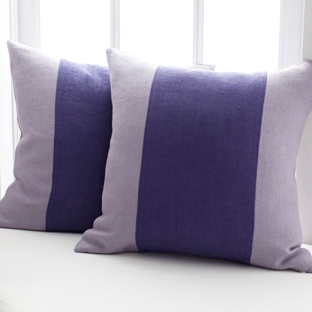 A Line of Lavender Pillow Cover, Wisteria