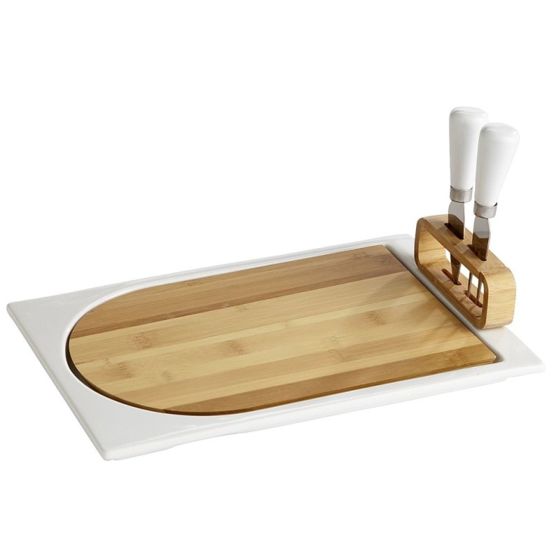 Bamboo Cheese Board Serving Set- Pier 1 Imports