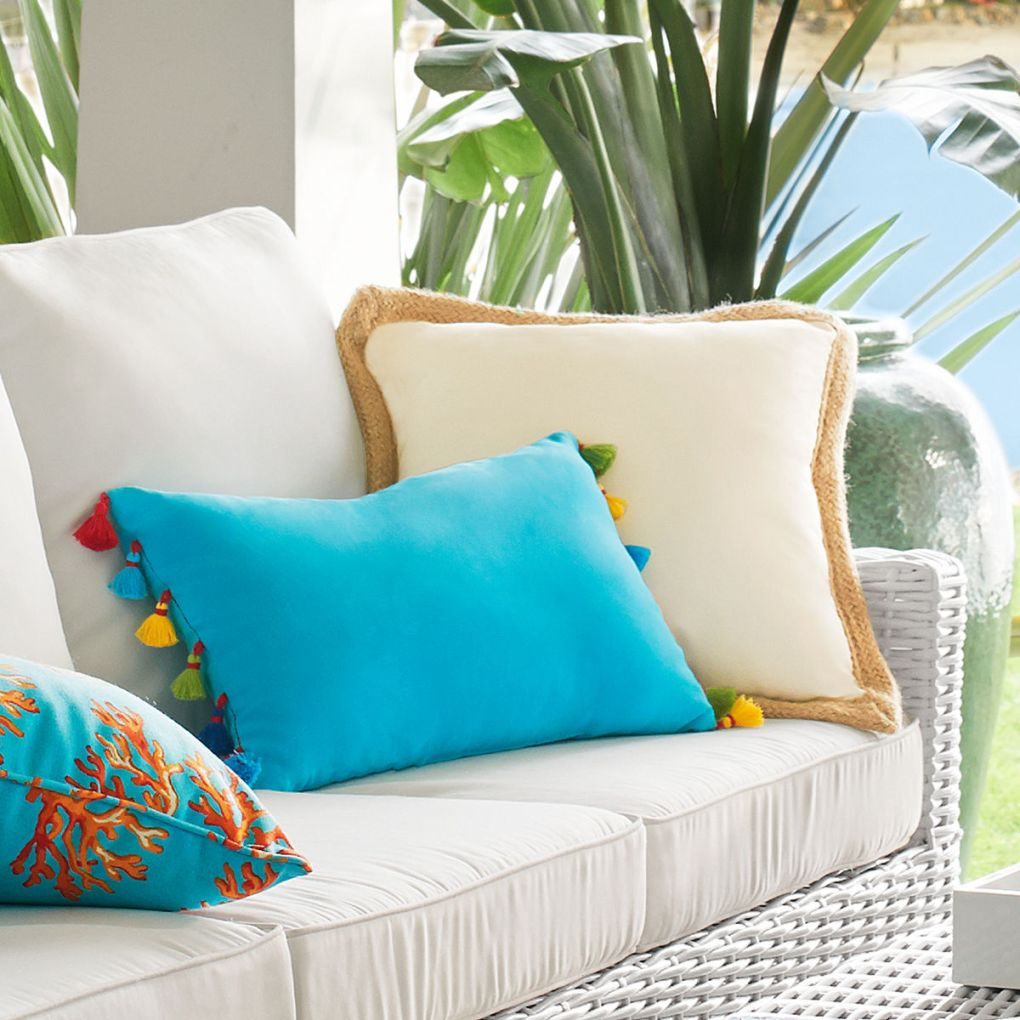 Cabana Poms Lumbar Pillow- Pier 1 Imports