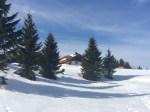The alpage at La Boissaude in winter.